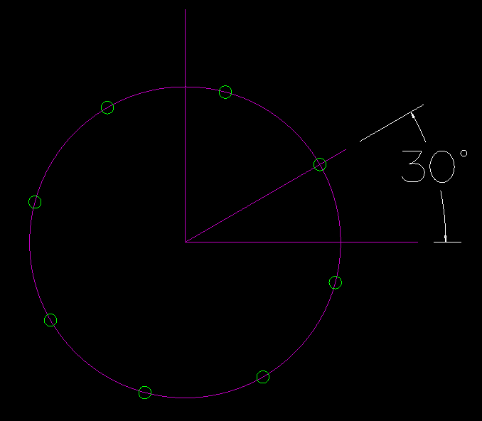 alphacam bolt hole circle angle example