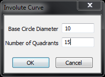 alphacam involute curve options