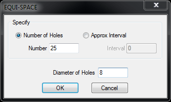equi-spaced holes options