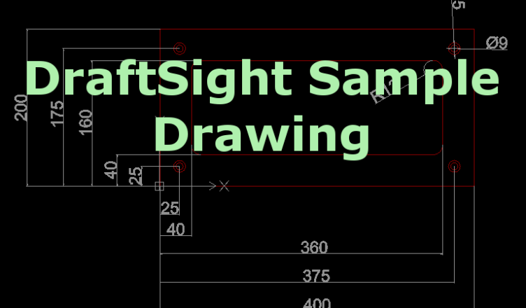DraftSight Sample Drawing - CAD/CAM Lessons
