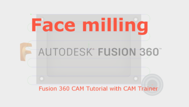 fusion 360 face milling