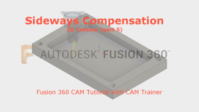 fusion 360 sideways compensation