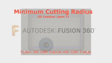 minimum cutting radius fusion 360