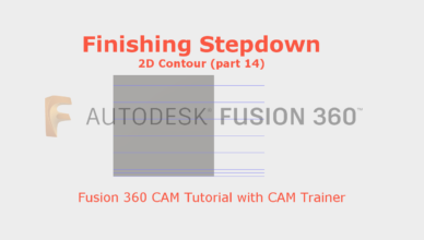 finishing stepdown fusion 360