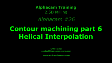 helical interpolation alphacam