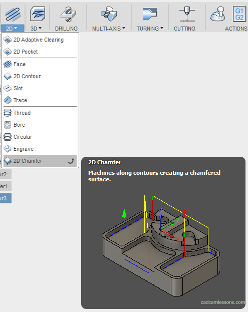 2D Chamfer Fusion 360 Manufacture Training